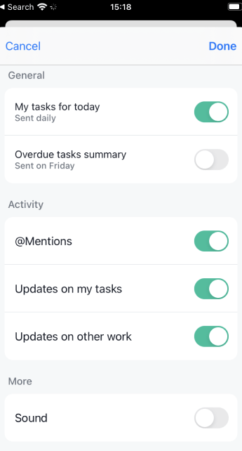 push notification controls 2