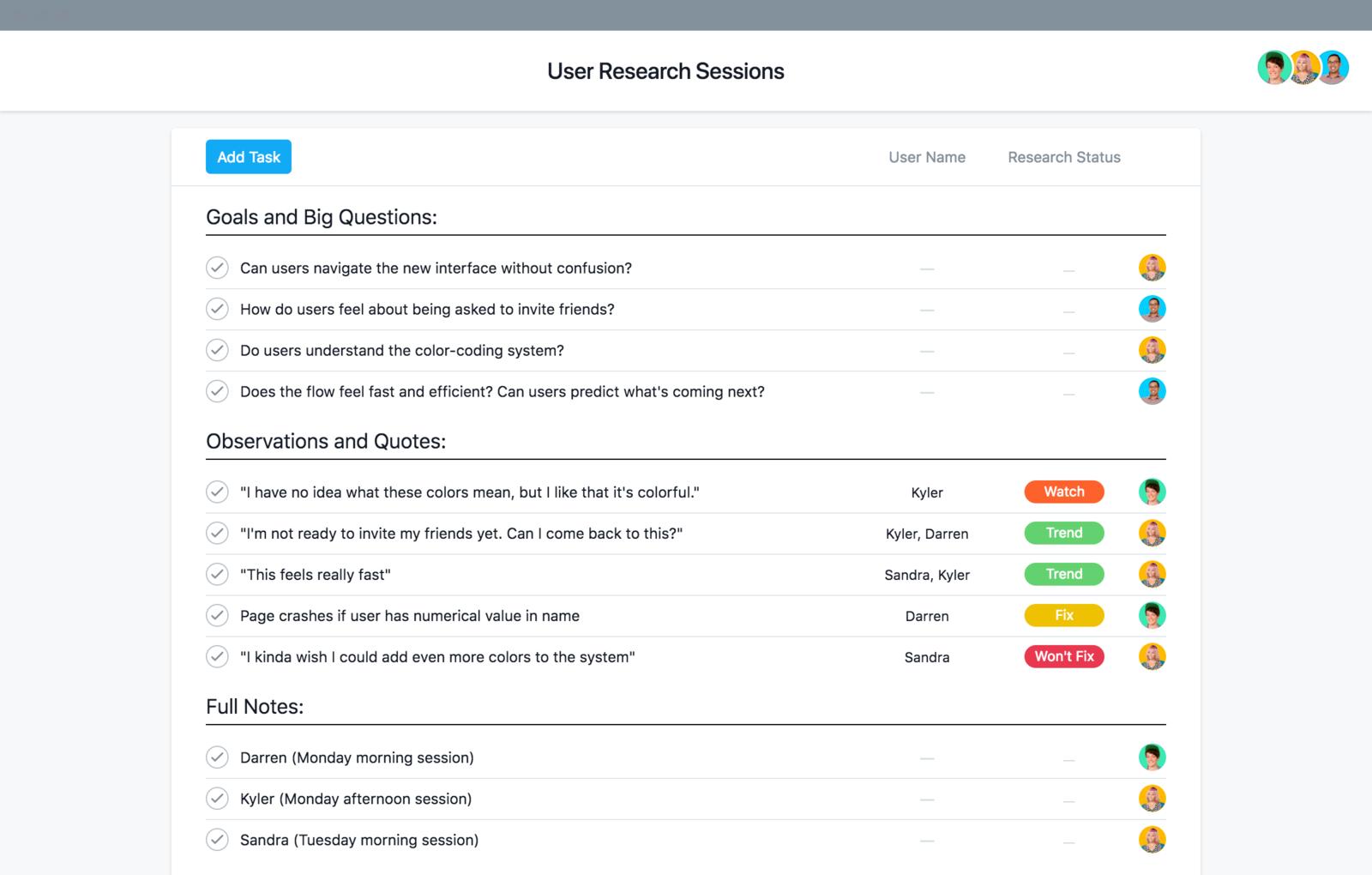 Modèle de projet de recherche utilisateur