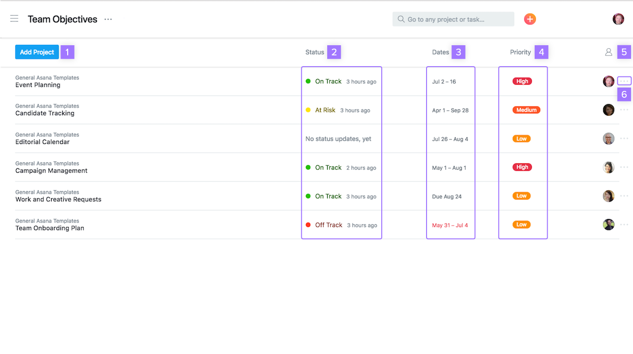 Create portfolios to track progress towards your epics in Asana