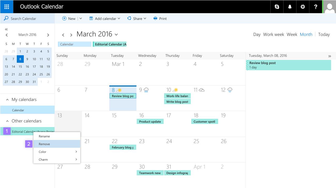Synchroniser Calendrier Outlook Gmail.Synchroniser Asana Et Les Calendriers Google Agenda Outlook