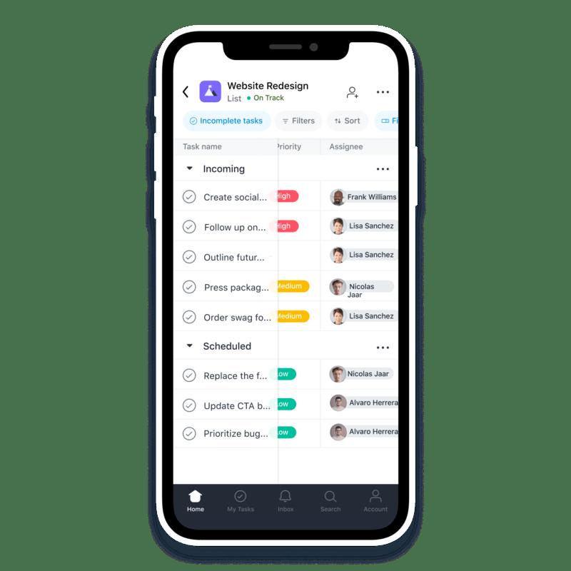 Asana App for iOS