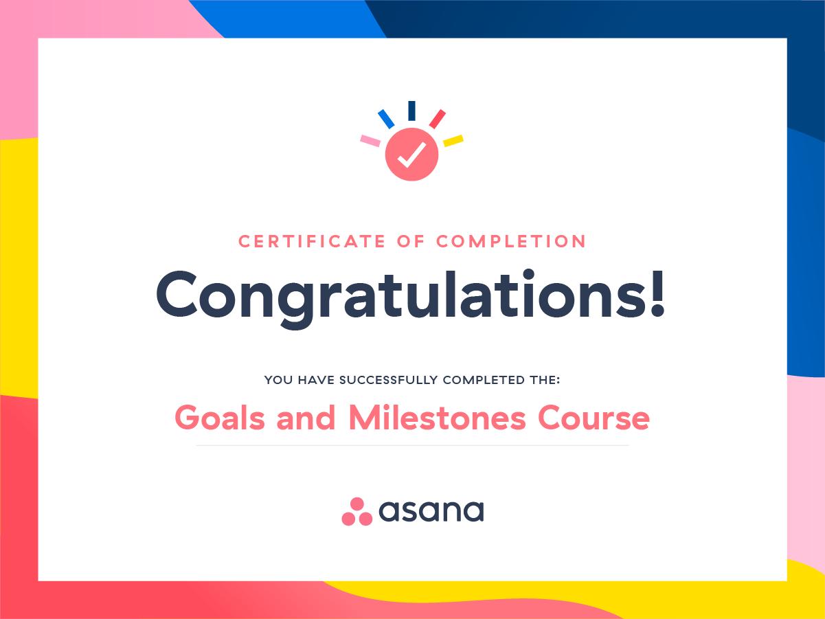 Asana course goals and milestones asana xflitez Gallery