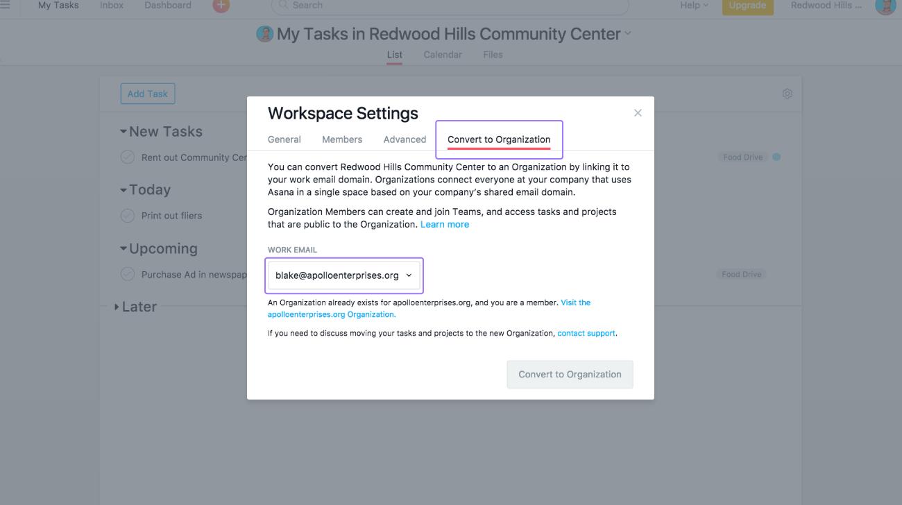convert workspace