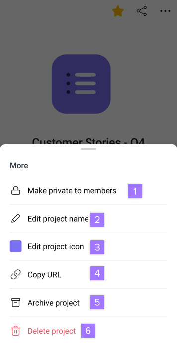 edit a project 2
