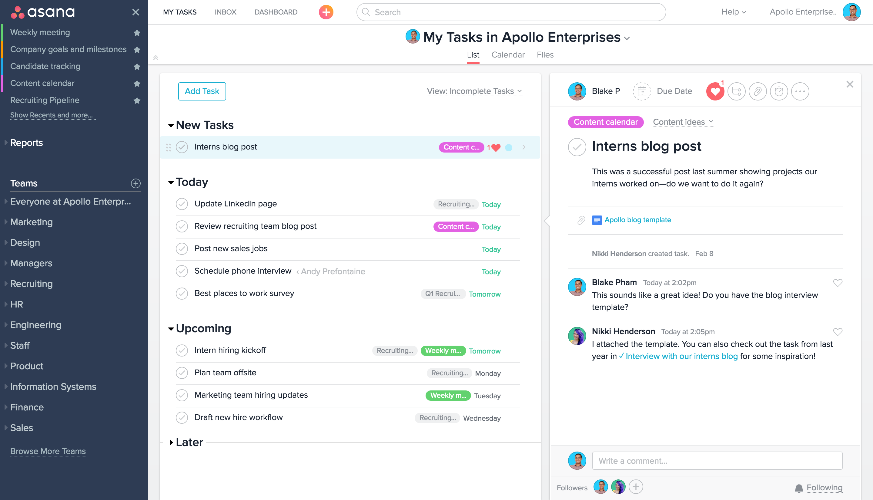 Asana vs basecamp which one is right for your team asana for Asana task template