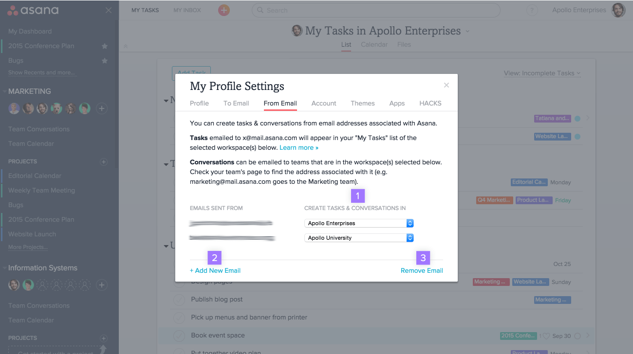 how to control your profile settings in asana product guide asana