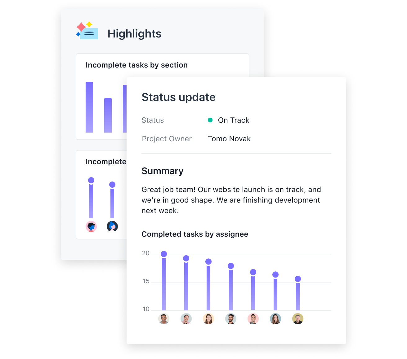 Status with charts