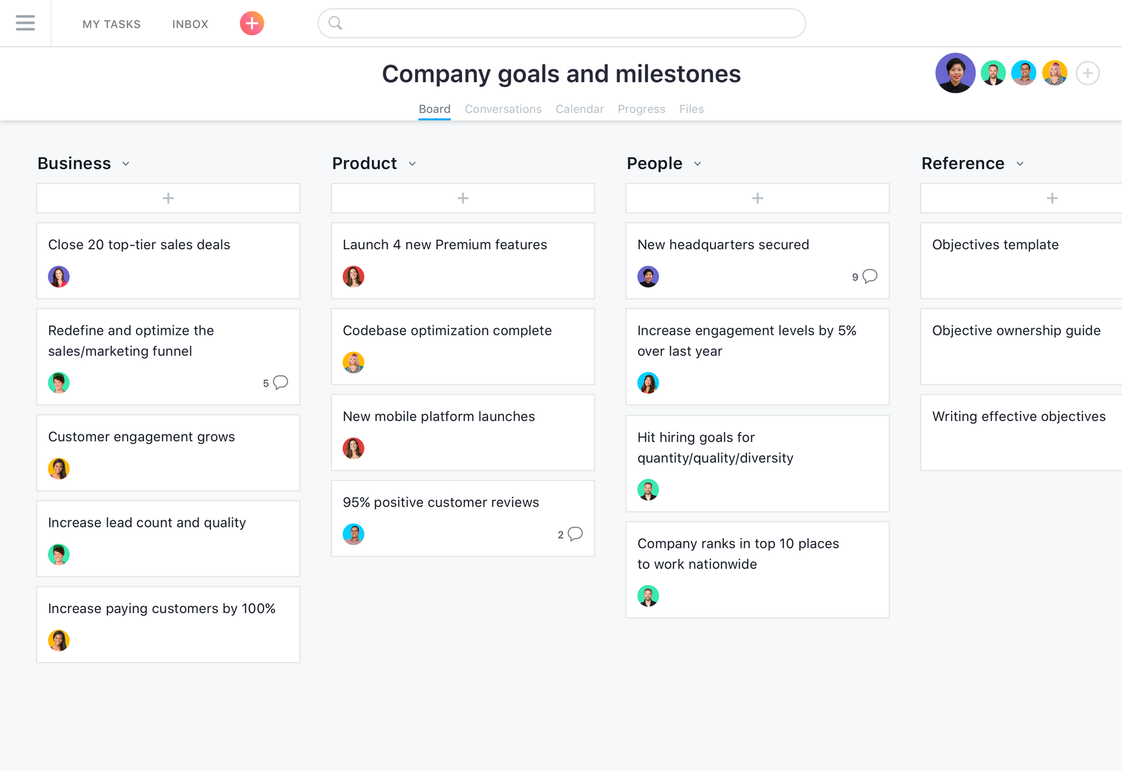 Lead management sales tracking and cross team collaboration tool asana product screenshot accmission Image collections