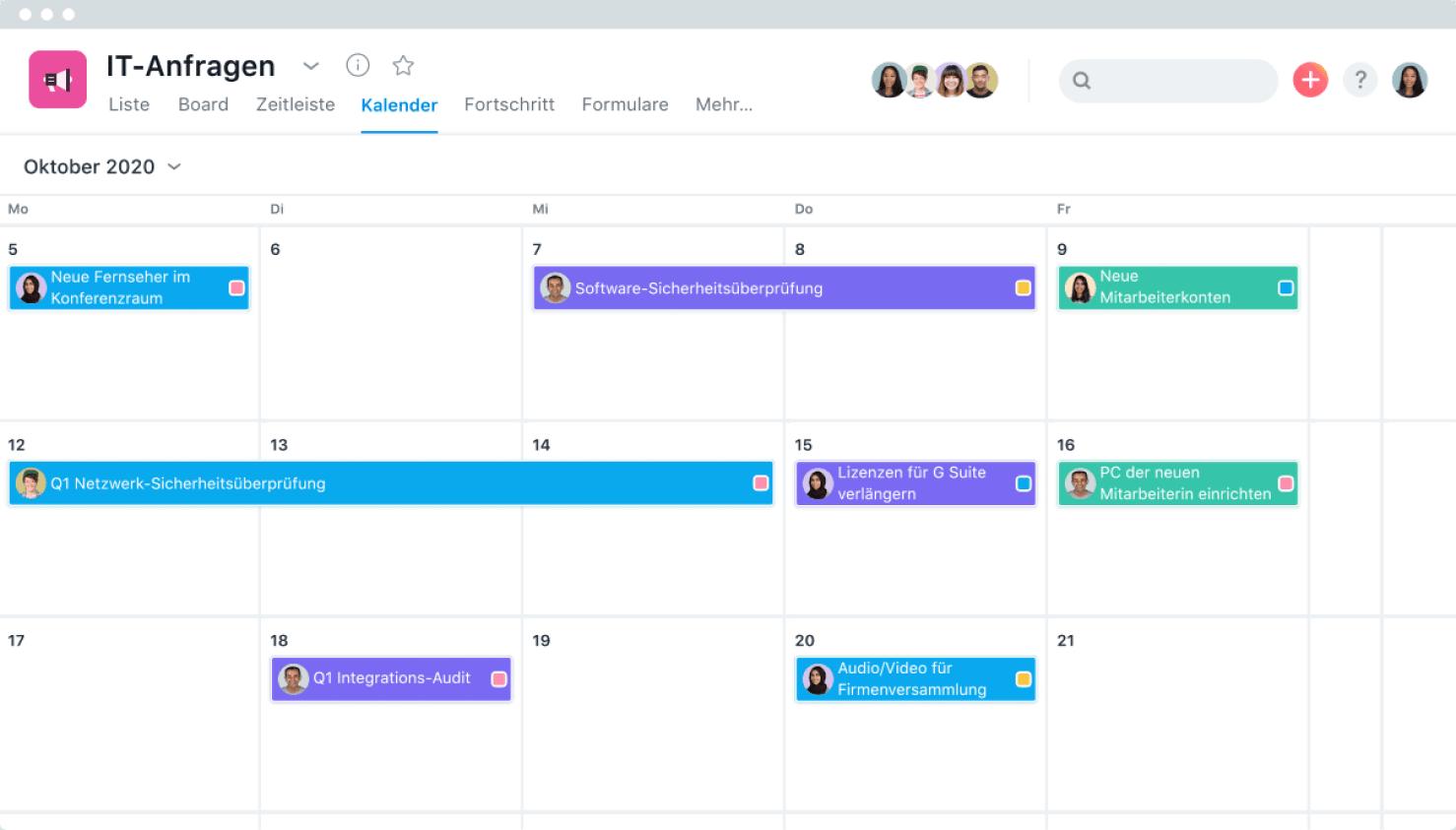 Asana-Kalender