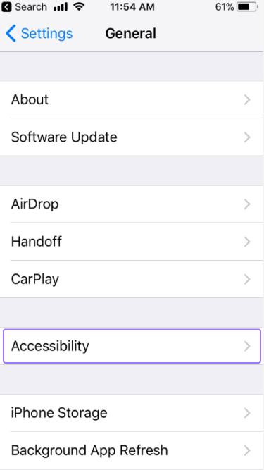 VoiceOver de iOS