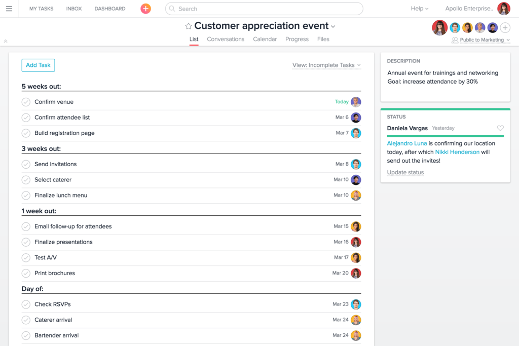 Track all of your team's work in one place