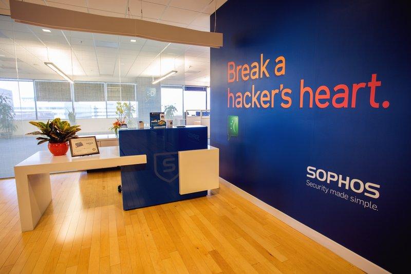 Recepción de oficina de Sophos