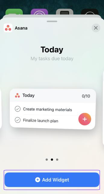 Heute-Widget hinzufügen 3