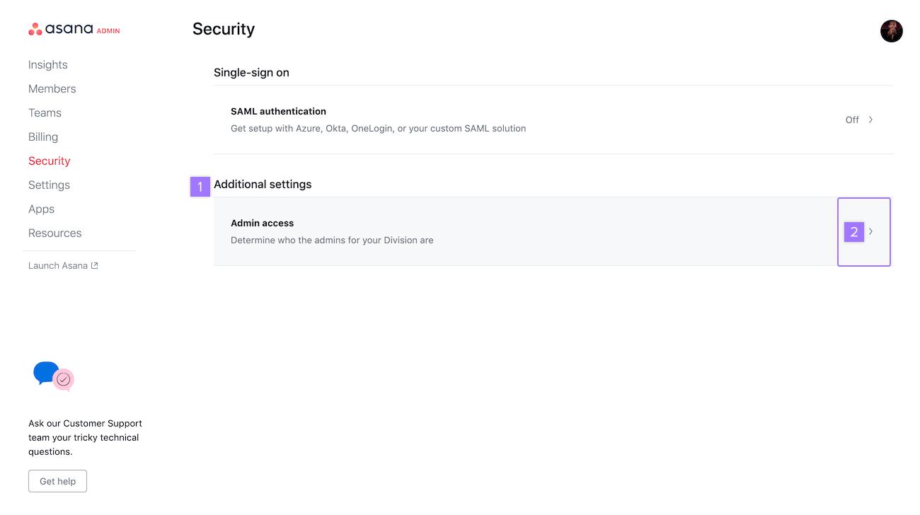 admin access 2