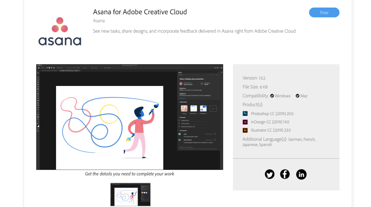 Asana for Adobe Creative Cloud · Asana