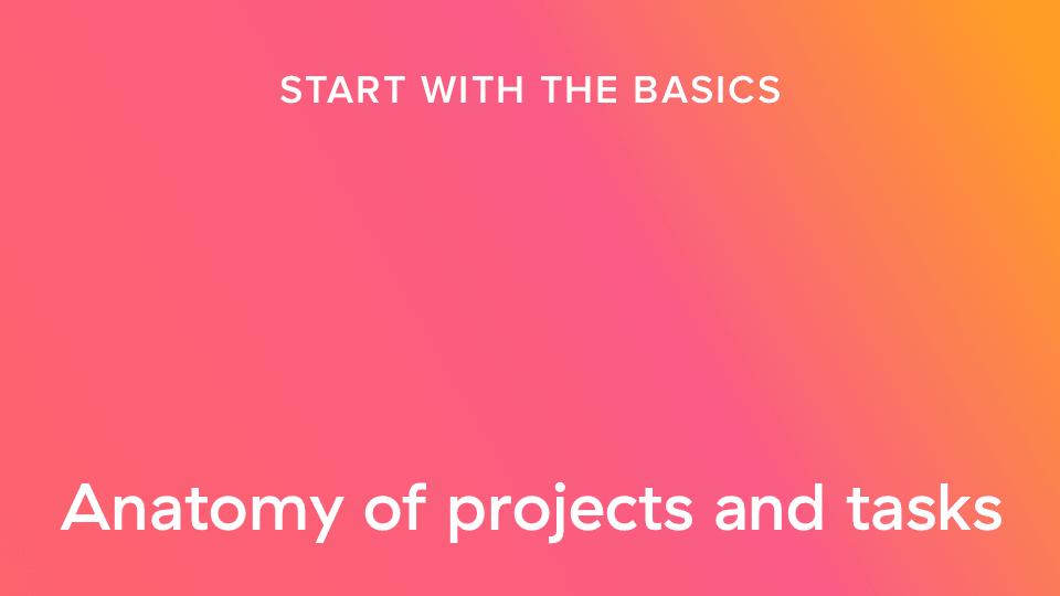 Estructura de los proyectos y las tareas