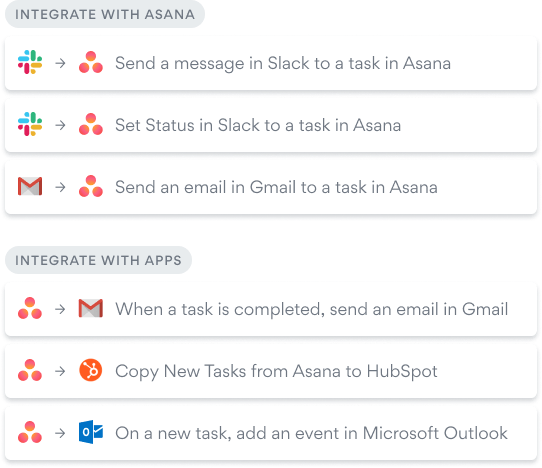 All your favorite tools work with Asana