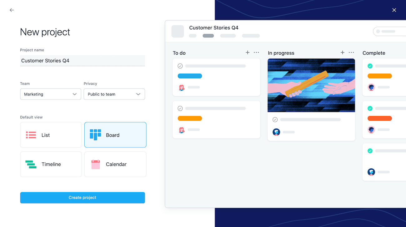 Create a board view for your project 2