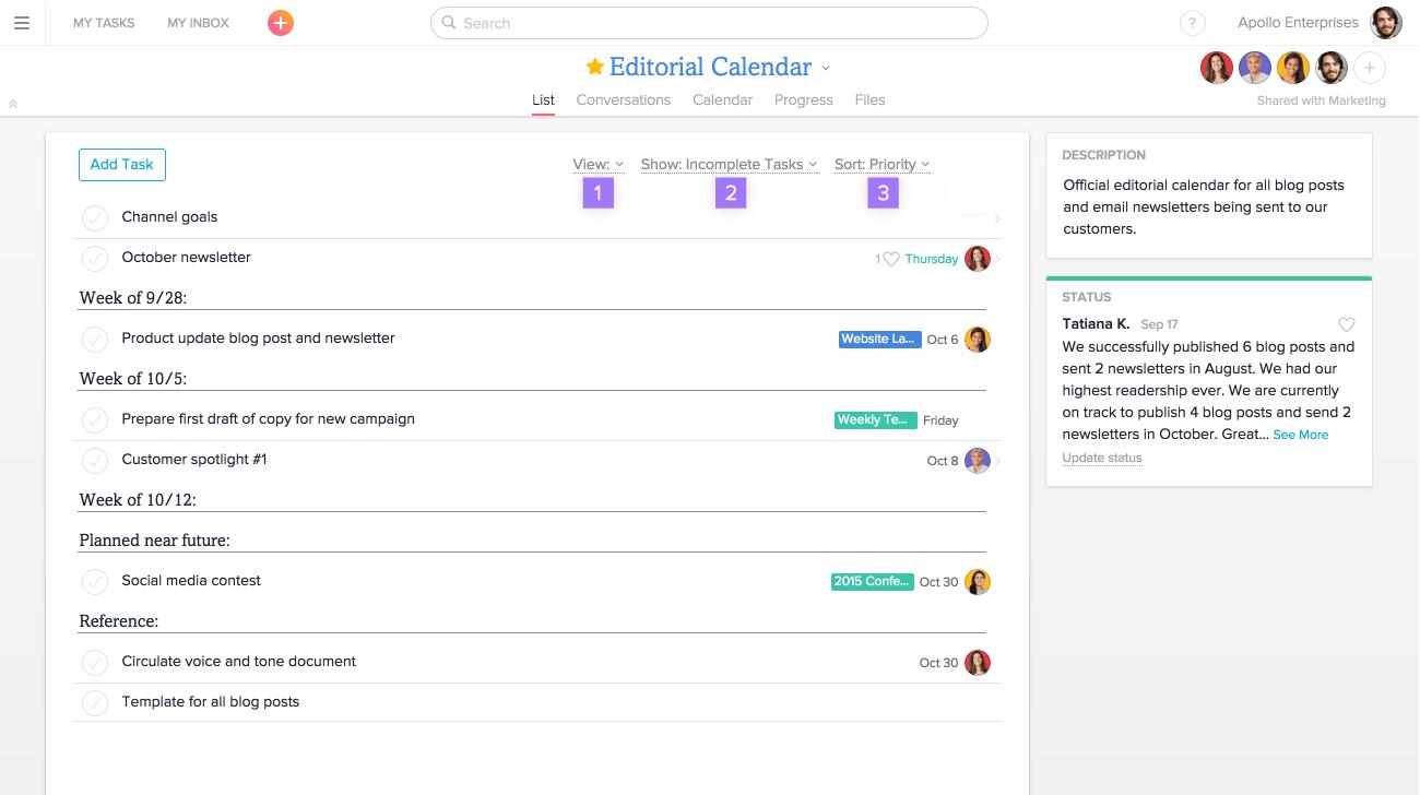 filter customize options