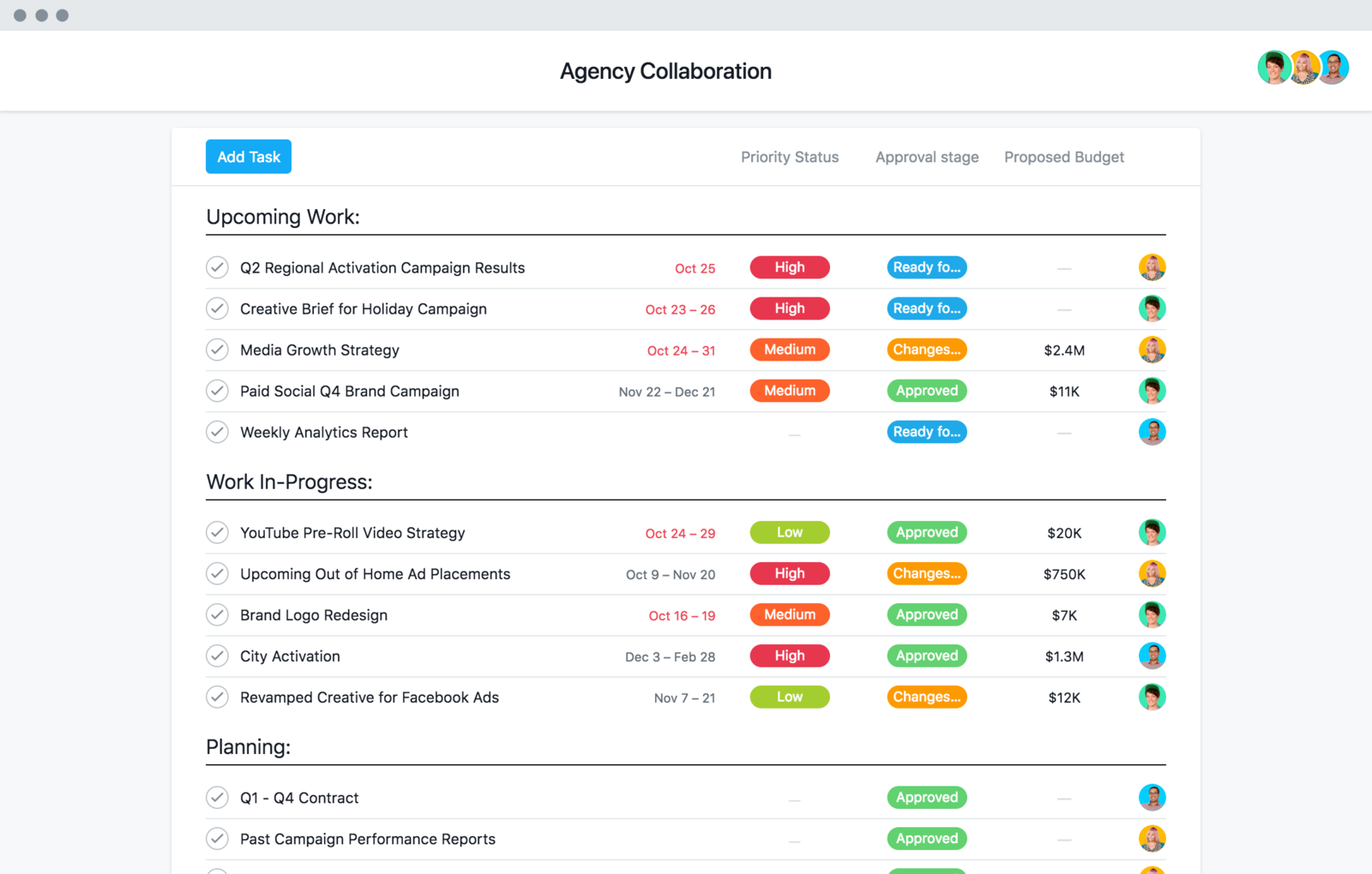 Agency collaboration template
