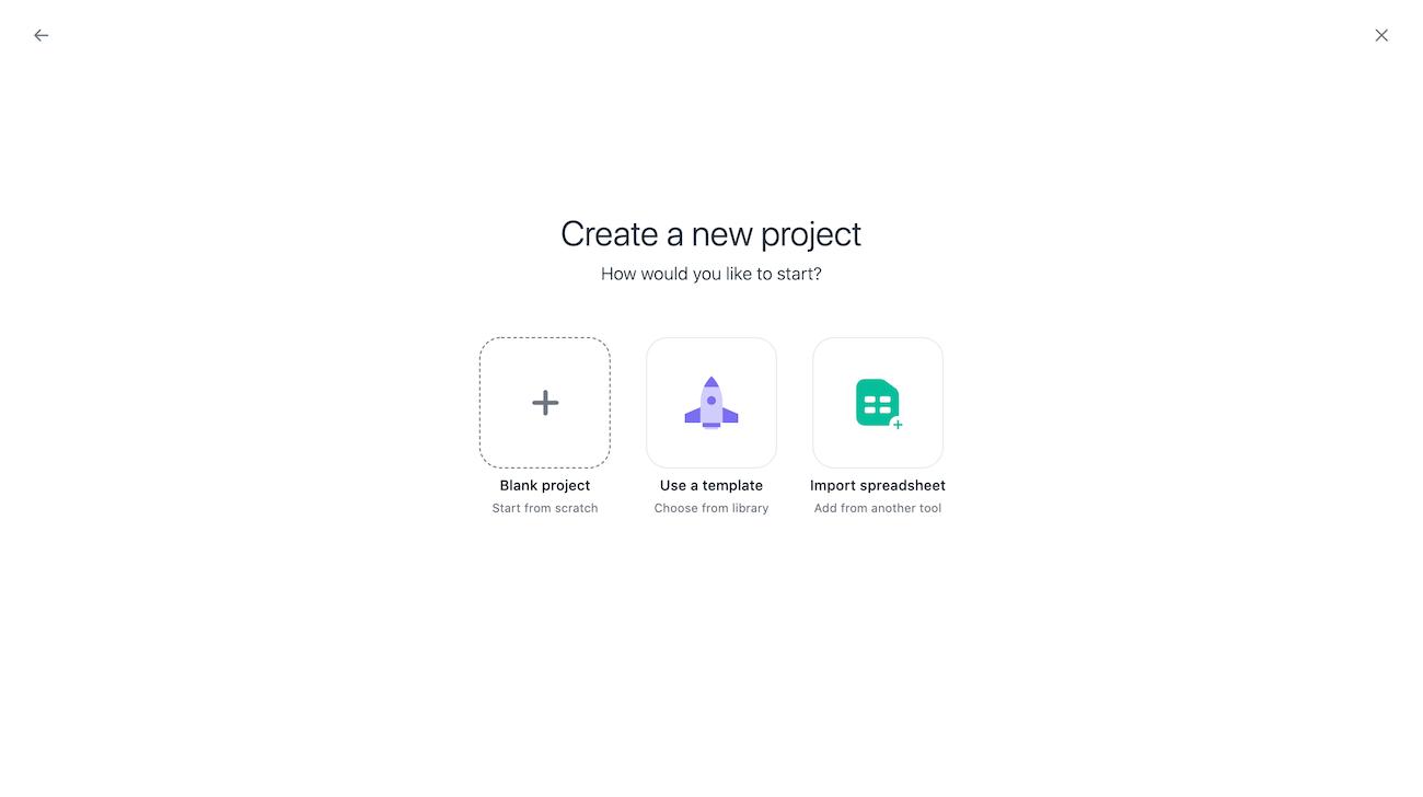 プロジェクトのボードビューの作成 1