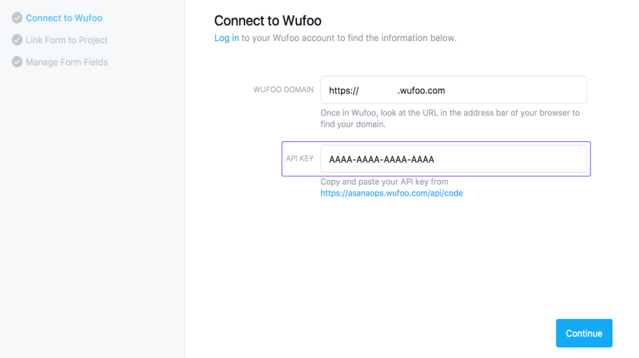 wufoo api connect