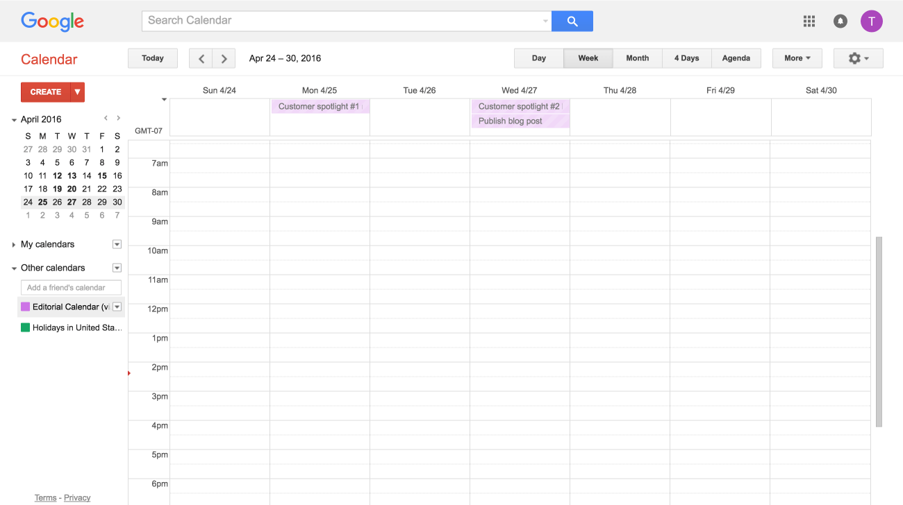 Sincroniza el Calendario de Google con Asana