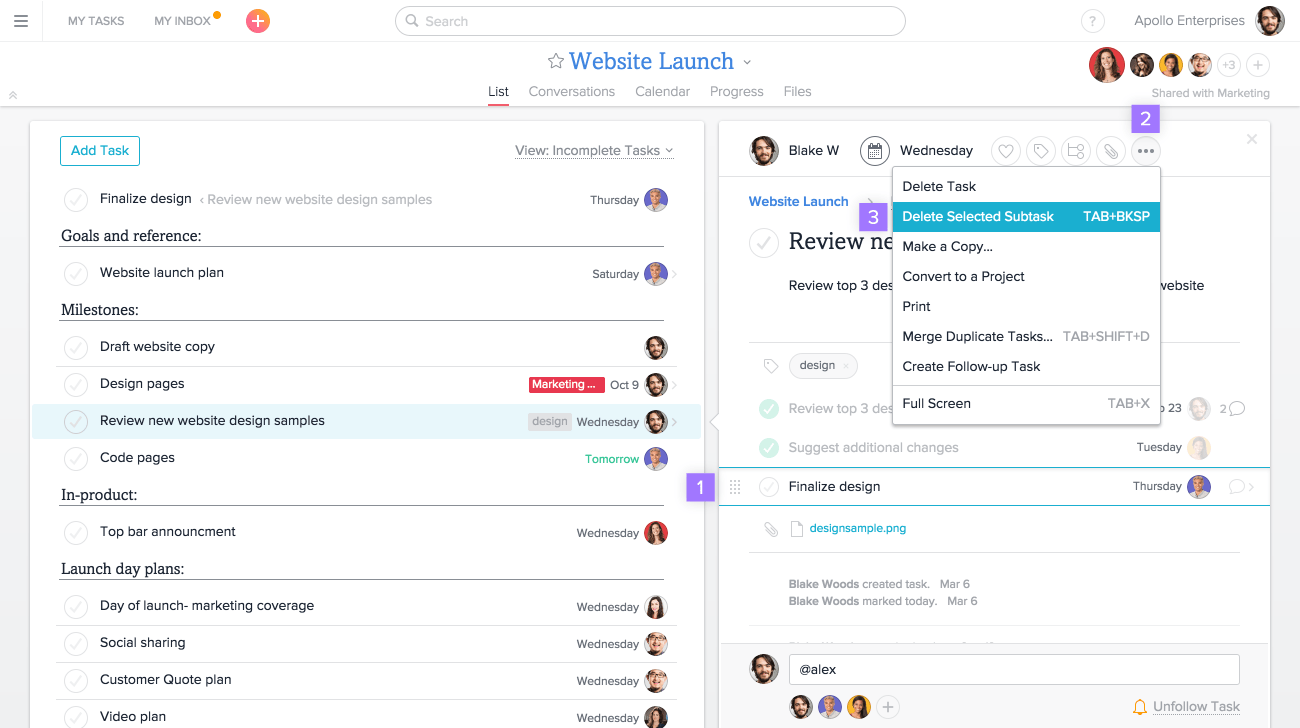 help with asana subtasks product guide asana