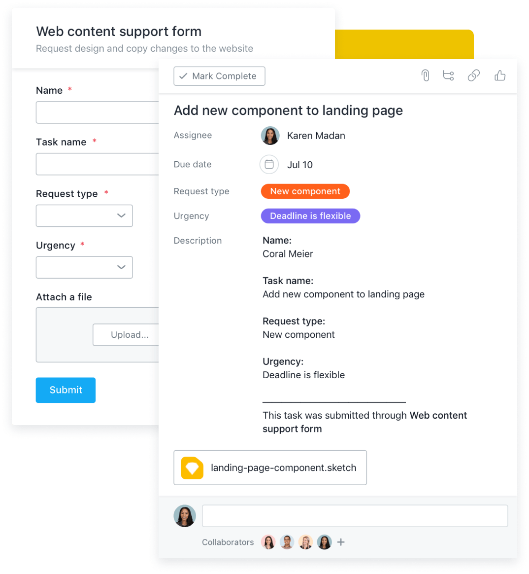 Organize requests