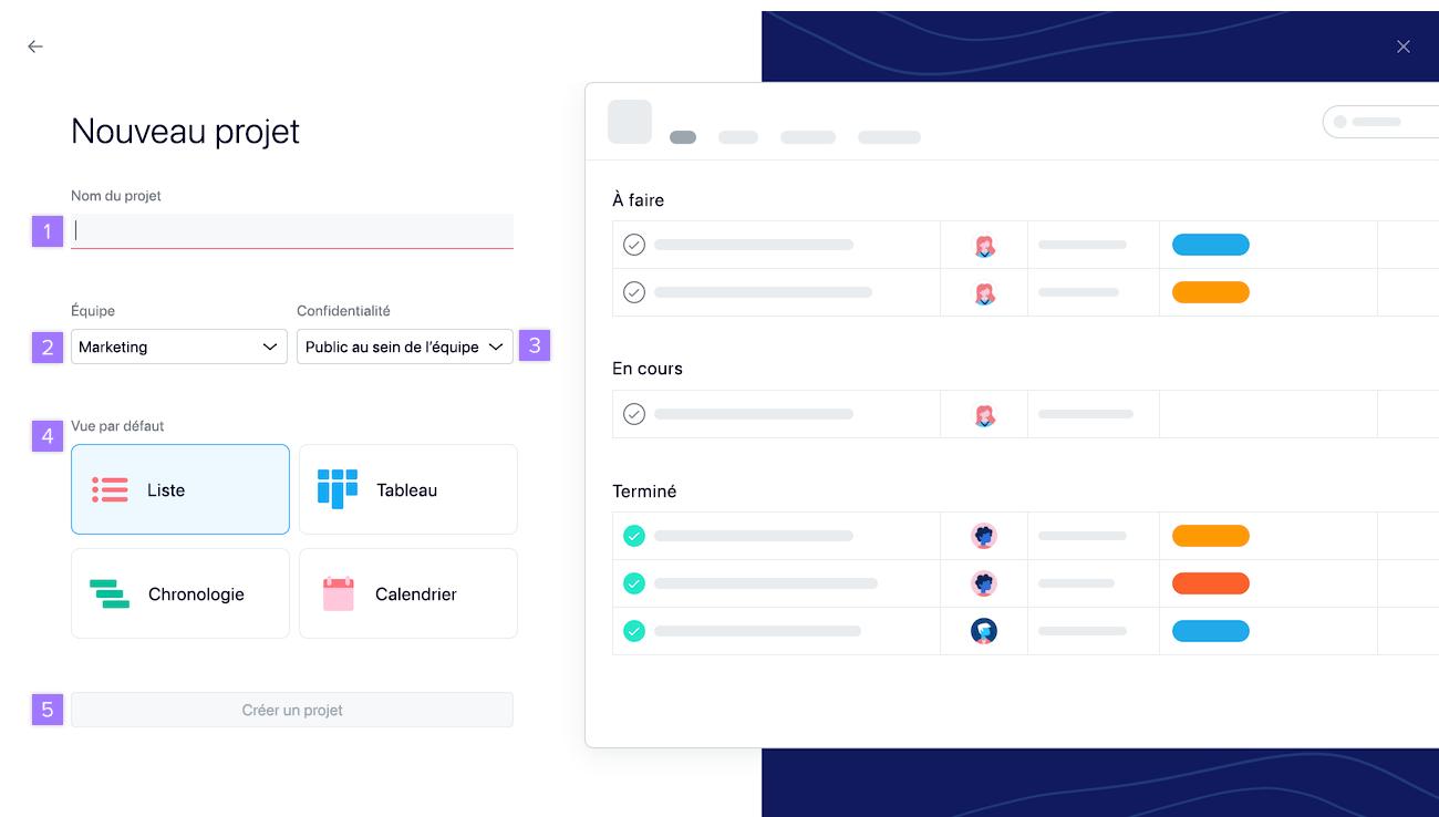 créer un projet3