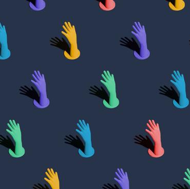 Asana hands illustration