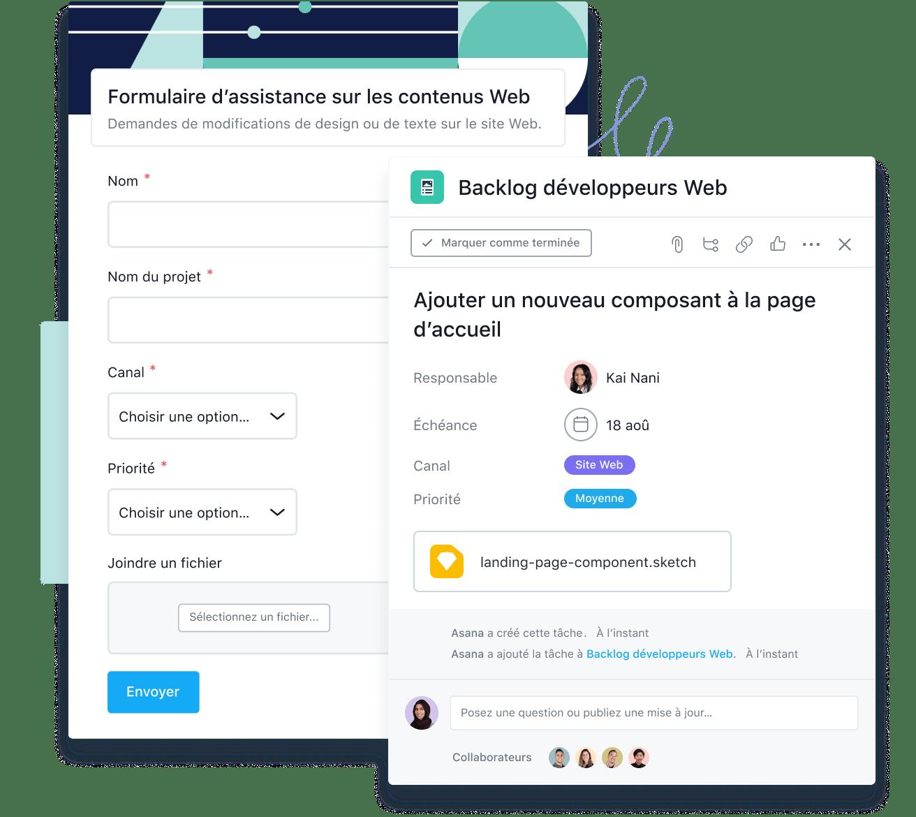 Organisez les demandes