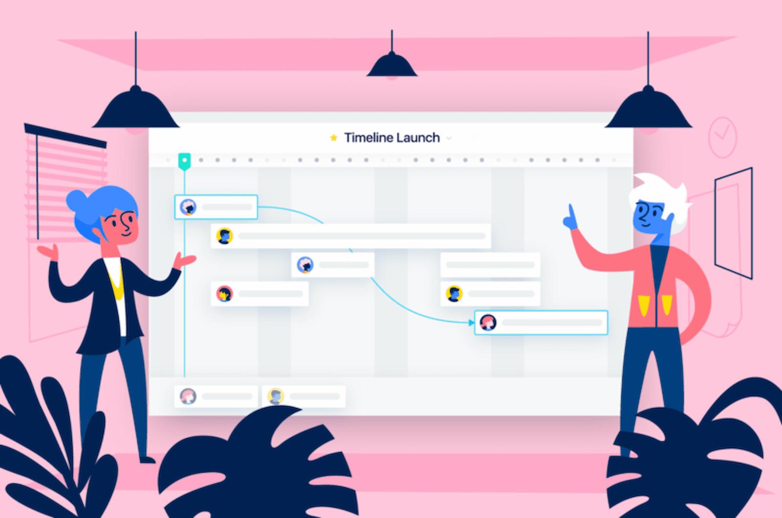 Crea cronogramas y plantillas de proyectos