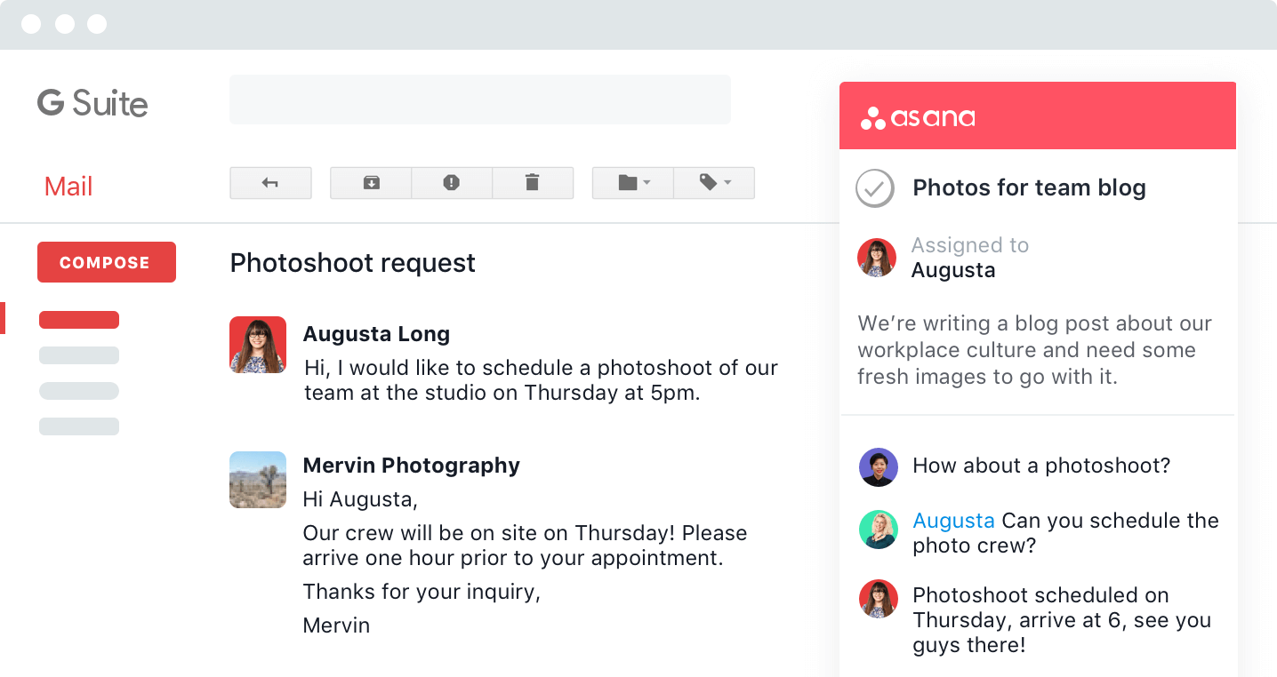 Asana Gmail integration
