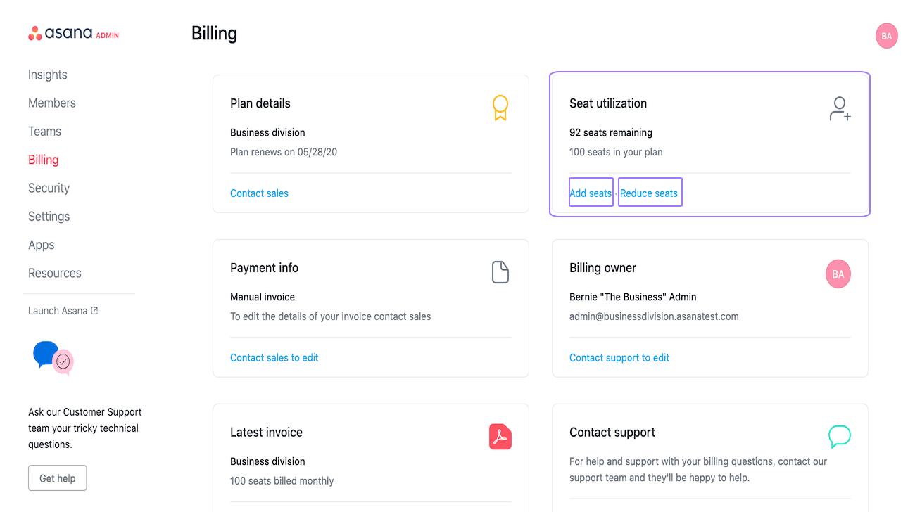 Abonnement mit manueller Rechnungsstellung