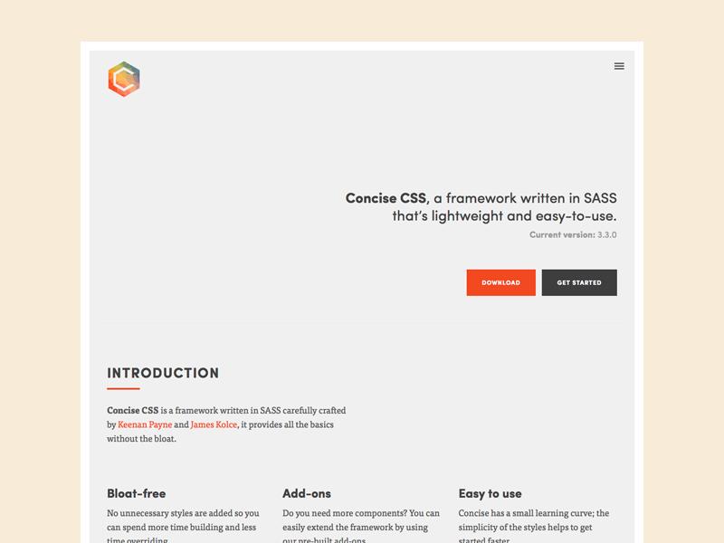 Concise CSS Logo