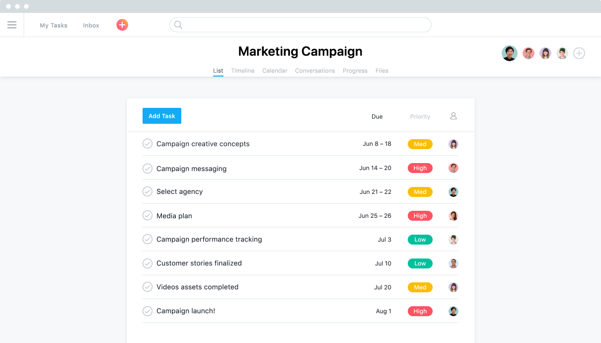 Use Asana To Manage Your Teams Work Projects Tasks Online