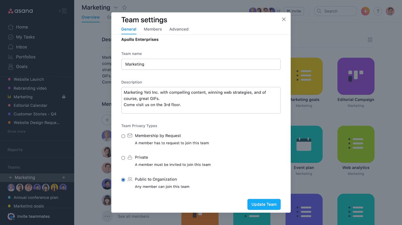 public team