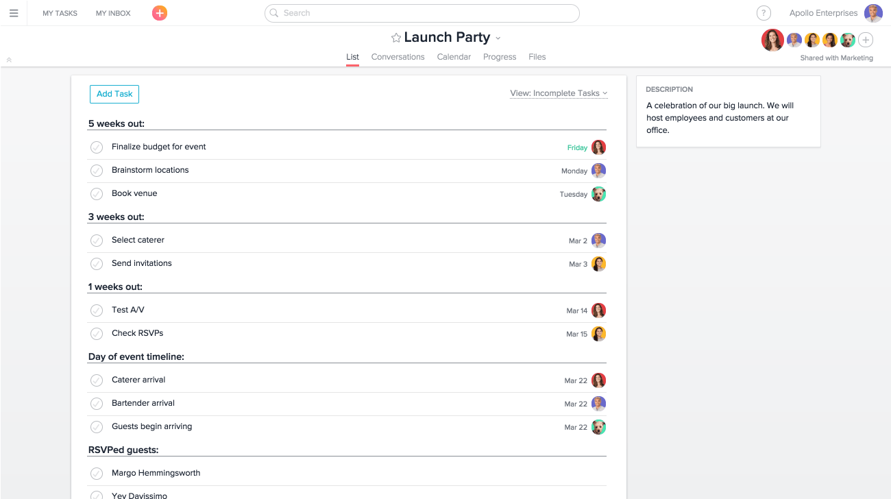 Using Asana For Event Management Planning Product Guide Asana