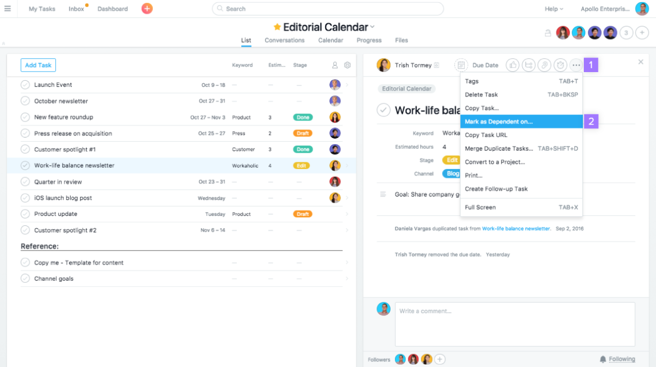 how to add a task in asana