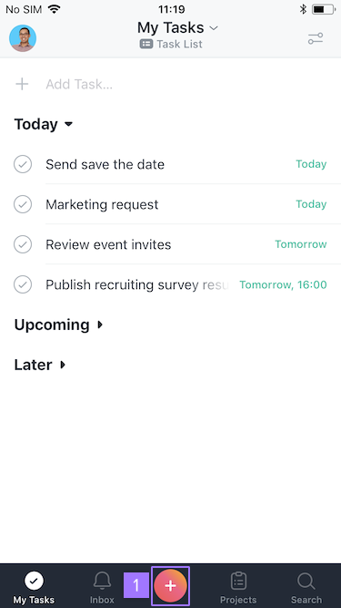 Creating & editing tasks in iOS | Product guide · Asana