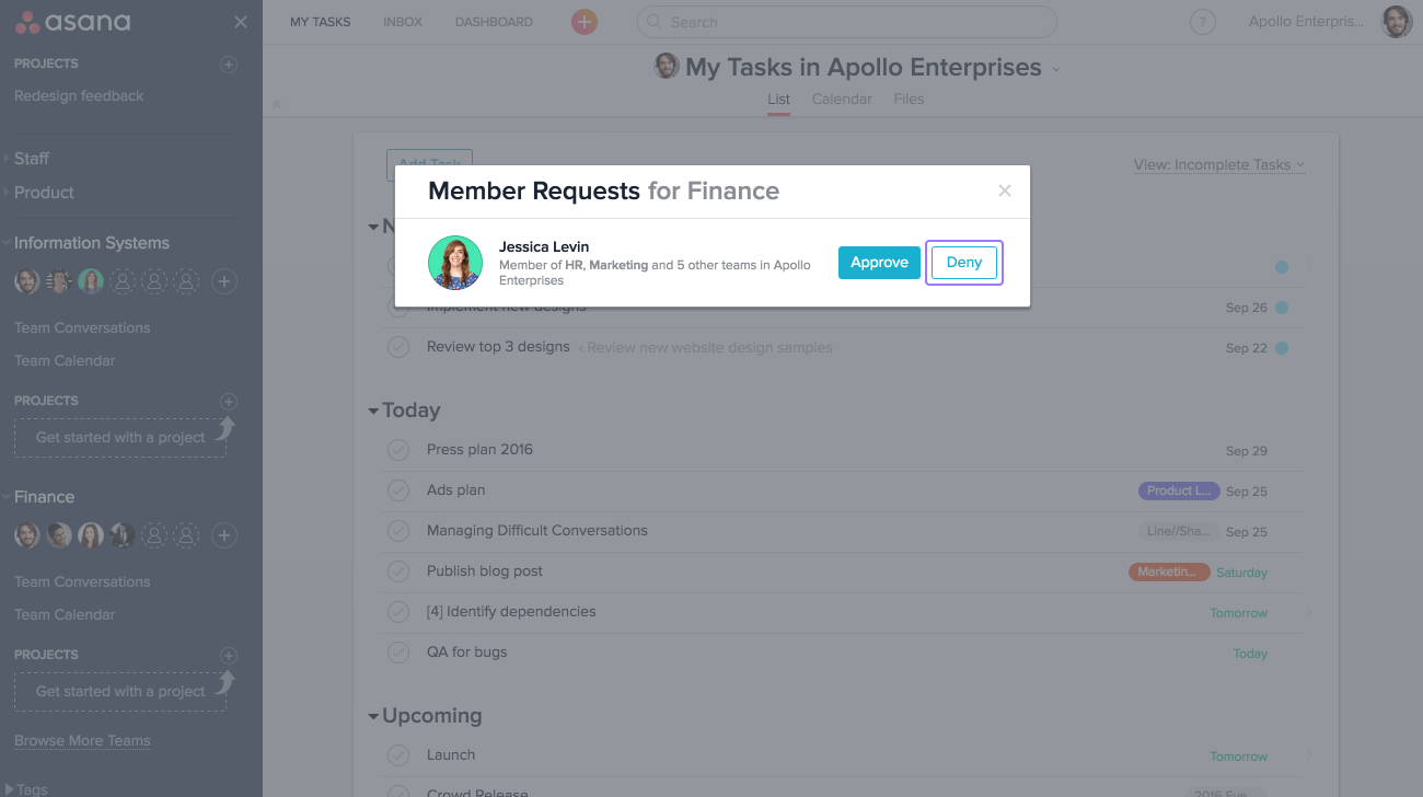 Team permissions | Product guide · Asana