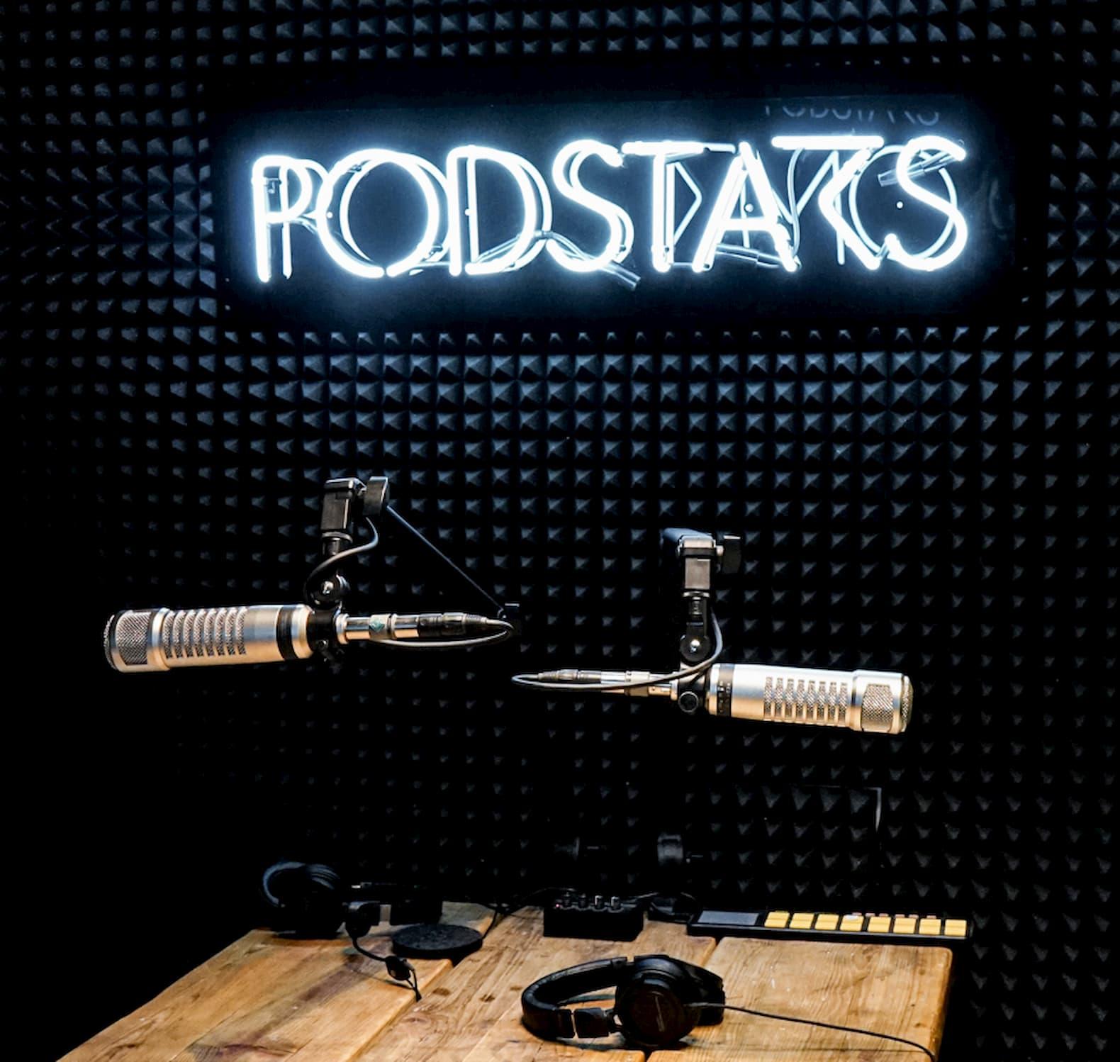 Das Podcast-Studio von Podstars