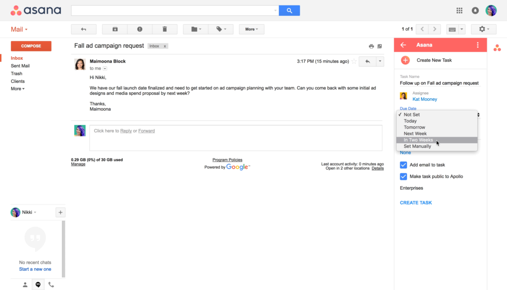 Integrao do gmail com o aplicativo asana asana sobre o gmail stopboris Gallery
