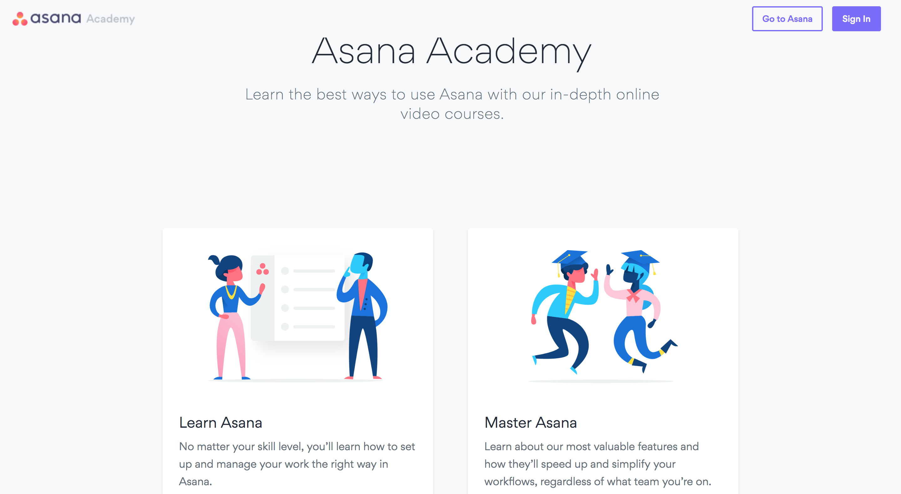 Asana product screnshot