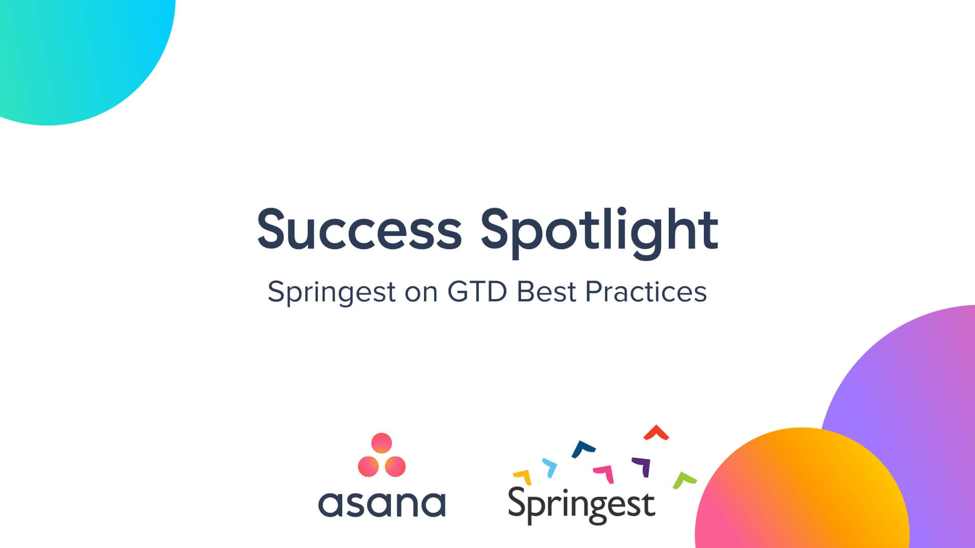 GTD und Produktivität mit Springest