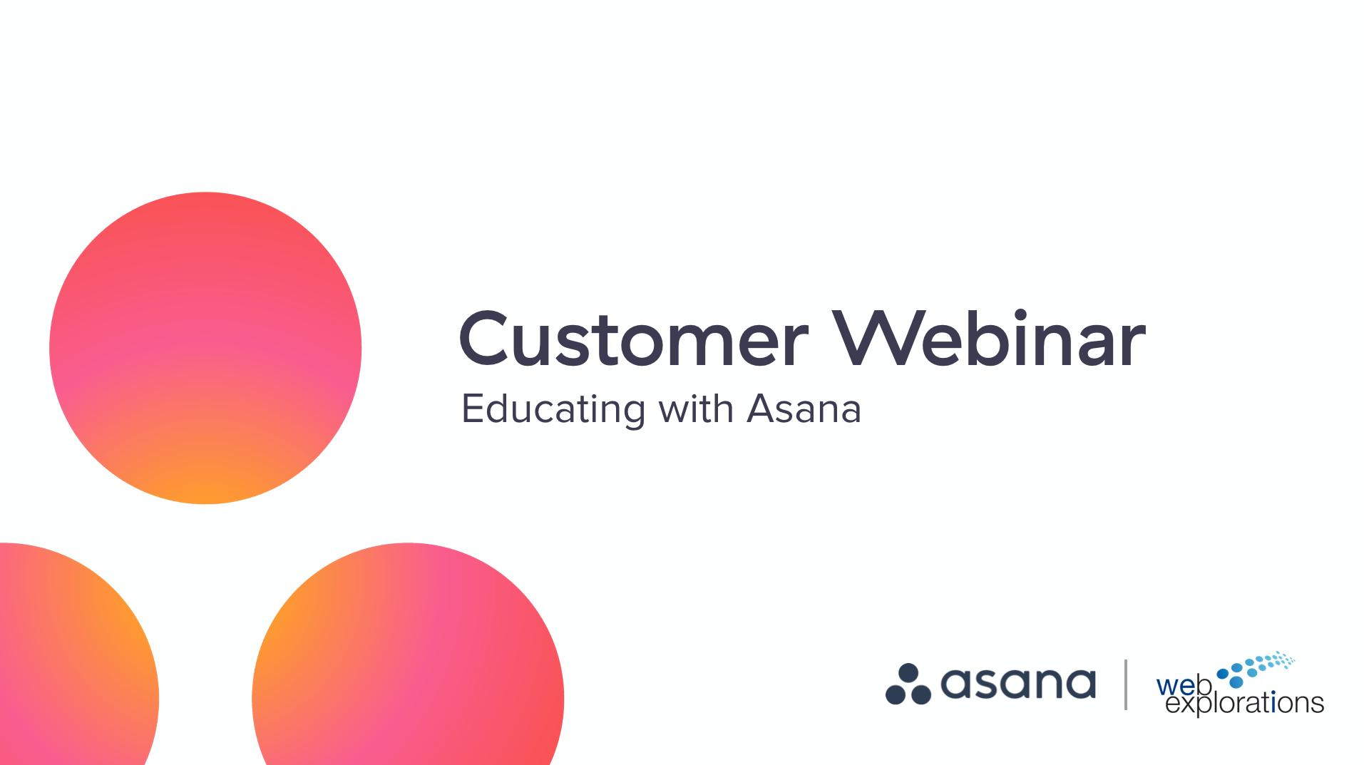 Weiterbildung in Asana mit Web Explorations
