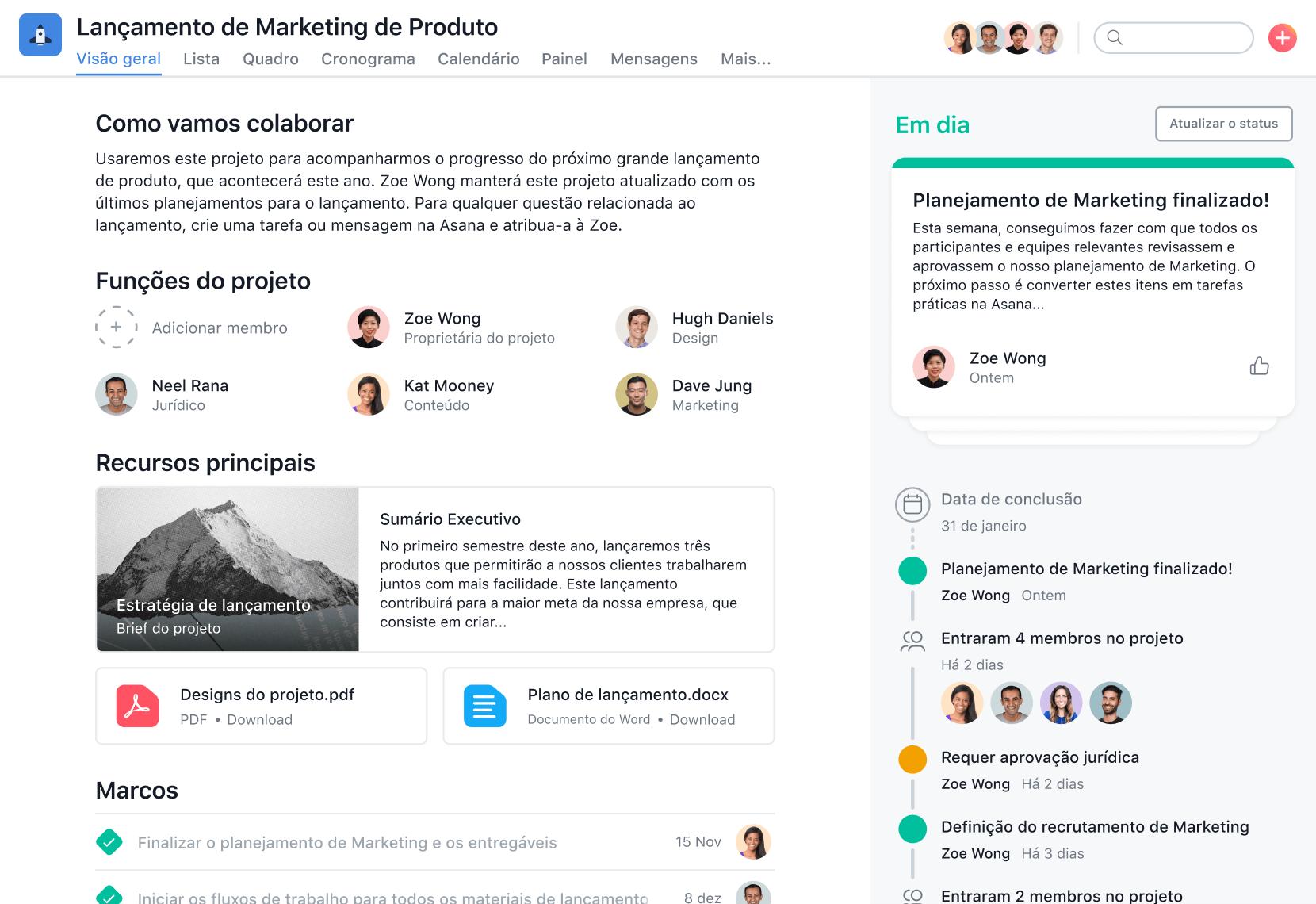 Gerenciamento de projetos de marketing