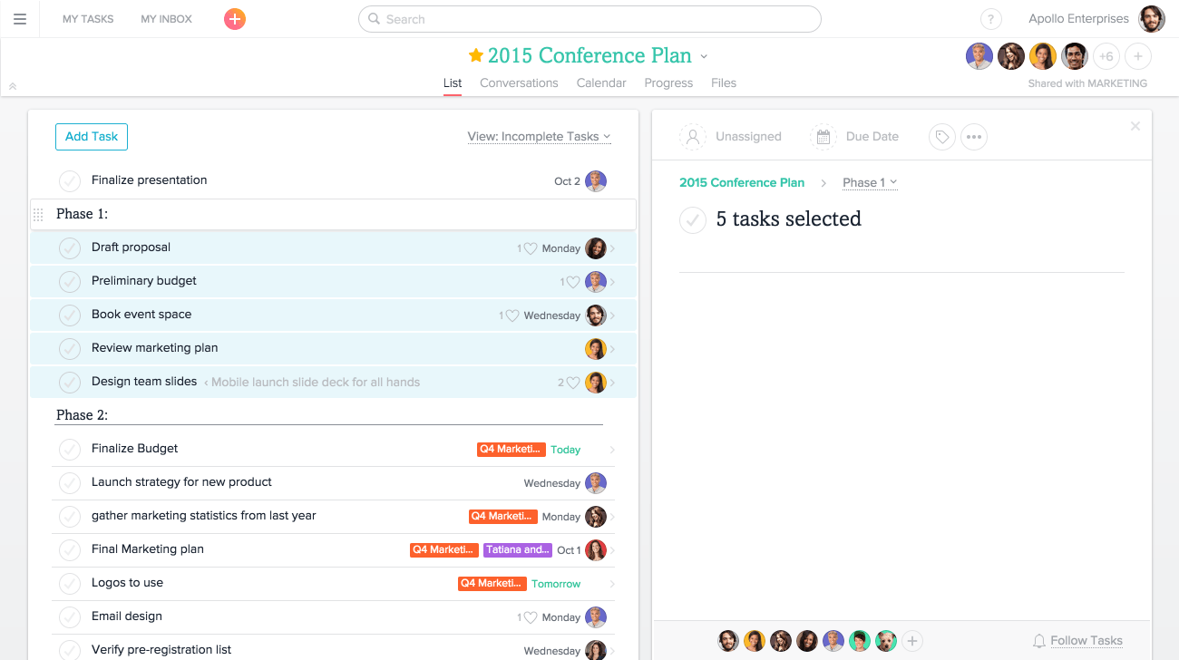 Multiselect Is An Easy And Efficient Way To Take Action On Multiple Tasks  At Once