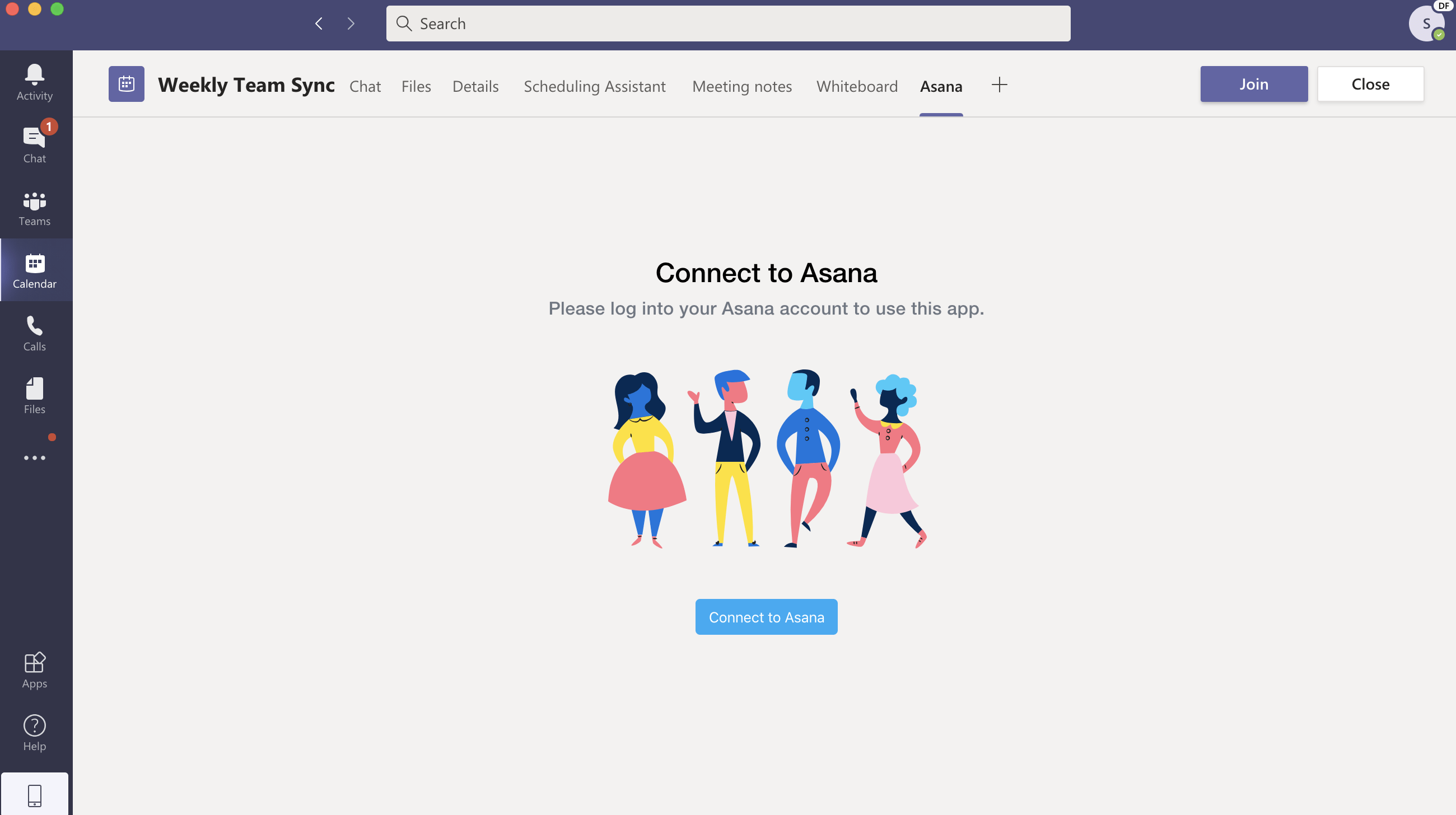 connect to asana
